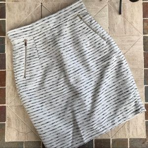 H&M Skirts - H&M Black + Cream Pencil Skirt • Size 4